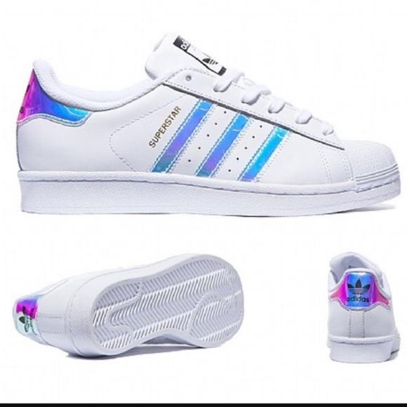 adidas superstar white metallic